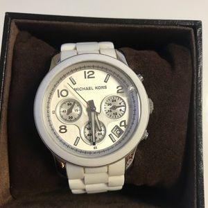 Michael Kors White Silicone Strap Watch